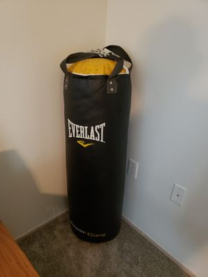 80 lb Everlast Punching and gloves for Sale in Puyallup, WA