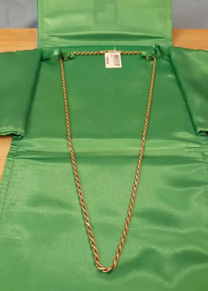 "New 24"" gold diamond rope chain for Sale in Hamilton, OH"