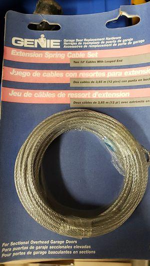 Genie garage door spring cable set for Sale in Joliet, IL