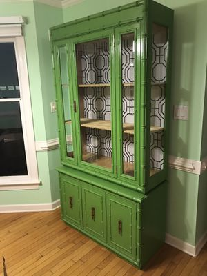 Vintage Apple Green Retro-style Hutch for Sale in Clayton, NC