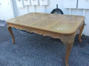 Large beautiful Solid wood dining table beautifully carved 62 by 44 for Sale in Pinellas Park, FL