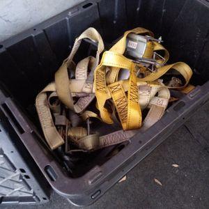 (6)Car Trailer Tire Tie Down Straps & Winches For Sale for Sale in Orlando, FL