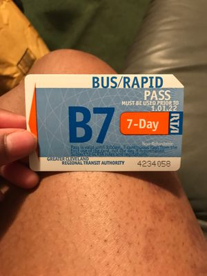 7 day bus pass never used for Sale in Shaker Heights, OH