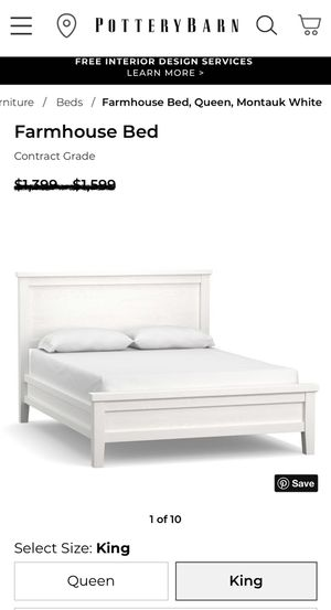 Crate and Barrel Farmhouse BEDROOM SET - King for Sale in Sheridan, CO