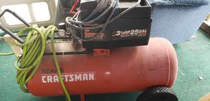 Craftsman Air Compressors 25gal. New hoses, works great just have two. for Sale in White Hall, MD
