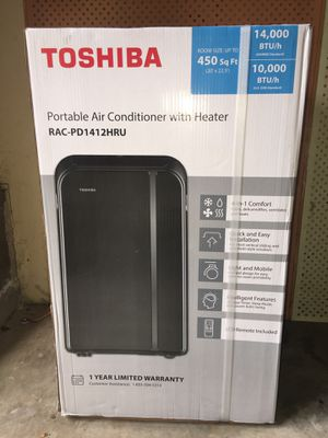Toshiba 14000 BTU 4 in 1 portable air conditioner. Air conditioner, fan, dehumidifier, and heater. Can be used all year round. $$475. firm on price for Sale in Bellevue, WA