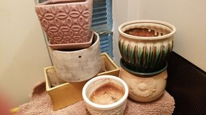 A variety of small pots for in door or outdoor planting for Sale in Queens, NY