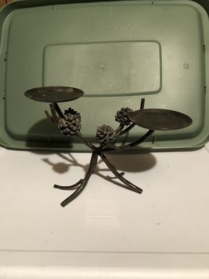 Pine cone candle holder for Sale in Portland, OR