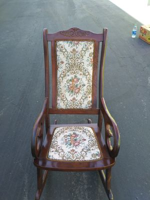 Antique vintage wooden rocking chair one of a kind for Sale in Las Vegas, NV