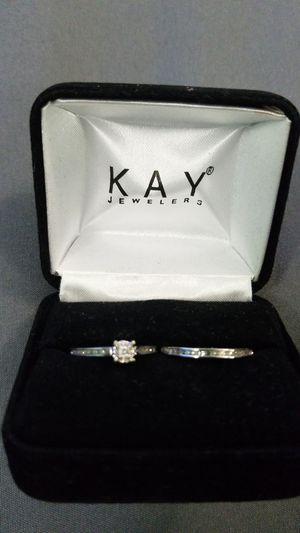 10K White Gold Wedding Set for Sale in Manassas, VA