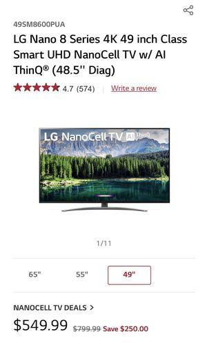 LG Nano Cell 49in Smart TV for Sale in Alexandria, VA