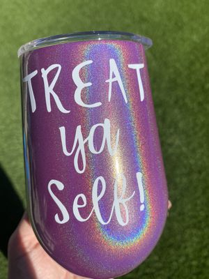 Glitter wine tumblers for Sale in Fort McDowell, AZ