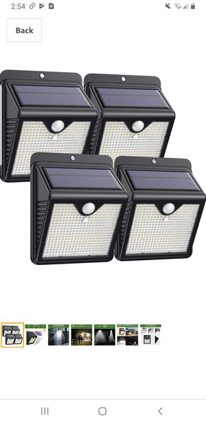 Solar Lights Outdoor [4Pack - 150LED Super Bright] Solar Security Lights Motion Sensor Lights IP65 Waterproof Wireless Wall Lights Solar Powered for Sale in Tustin, CA