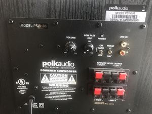 Polk Audio Sunwoofer 100 watts for Sale in Antioch, CA