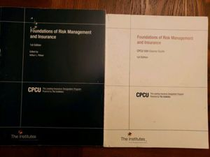 CPCU 500 - FOUNDATION OF RISK MANAGEMENT AND INSURANCE - 1st Edition (Bundle) for Sale in KS, US