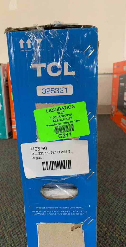 "Brand New TCL ROKU 32"" Smart Tv! Open box w/ warranty M7F82"