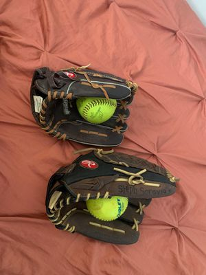 Rawlings Softballs and Gloves for Sale in Los Angeles, CA