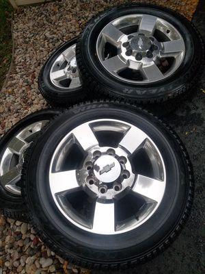 "20"" chevy silverado ltz HD 2500 stock wheels tires like new! for Sale in Bolingbrook, IL"