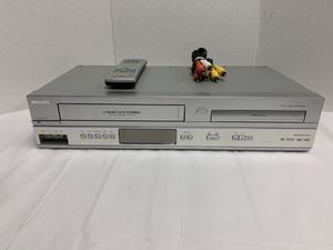 PHILIPS DVD VCR Combo Player DVP3345V 4-Head Hi-Fi W/ Remote - Tested & Working for Sale in Pelham, NH