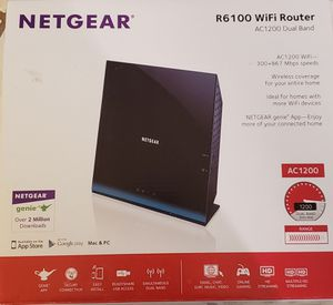 NETGEAR R6 100 WiFi Router AC1200 Dual Band for Sale in Lauderhill, FL
