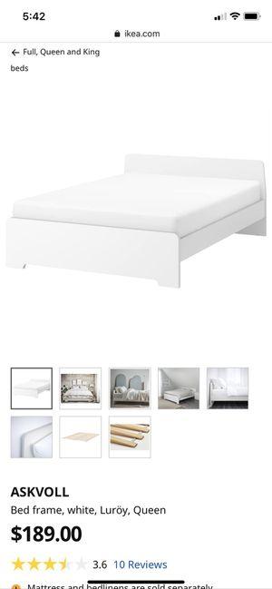 Ikea ASKVOLL bed frame + slates for Sale in Fairfax Station, VA
