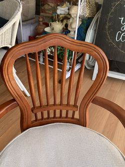 real wooden antique desk chair for Sale in Montebello,  CA