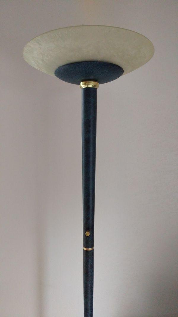 Torchiere floor lamp, halogen, dimmer