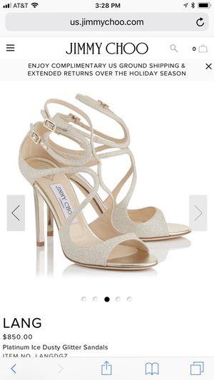 Jimmy Choo platinum ice dusty glitter heels for Sale in Seattle, WA