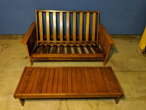 Solid wood futon for Sale in MD CITY, MD