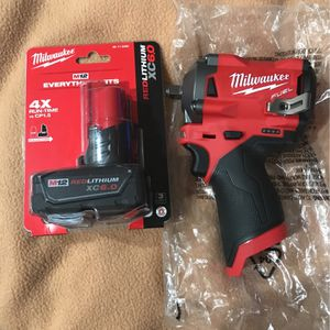 """Milwaukee Fuel 3/8"""" Stubby With 6.0 Battery BRAND NEW for Sale in Houston, TX"""