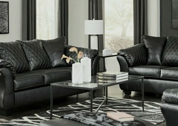 Same Day Delivery ♨️[EXCLUSIVE] Betrillo Black Living Room Set by Ashley for Sale in Alexandria,  VA