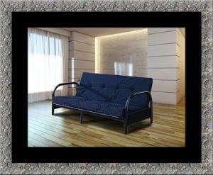 Black futon frame with mattress for Sale in Mount Rainier, MD