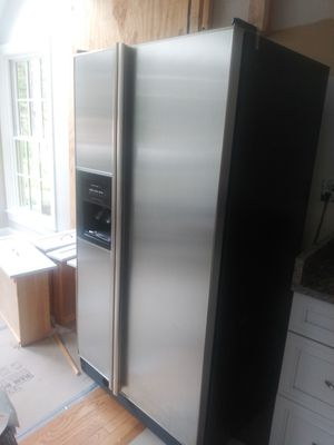 KitchenAid dual door fridge for Sale in Alexandria, VA