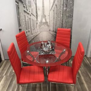 Dinings rooms four chairs.Black, Red And White for Sale in Miami, FL