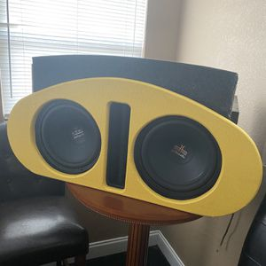 Two 12's Polk Audio with Custom Box for Sale in Rockledge, FL