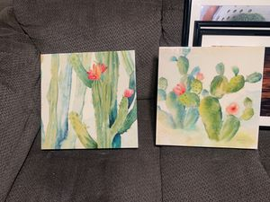 Cactus painting wall decor for Sale in Anaheim, CA