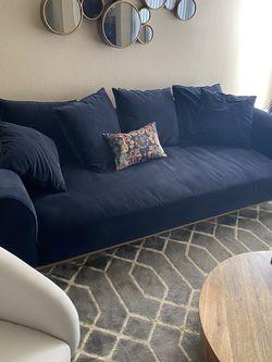 Dark Blue Mid Century Modern Couch for Sale in Scottsdale,  AZ