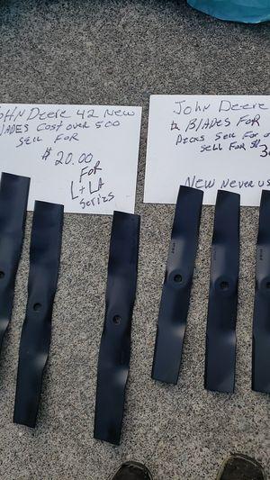 John Deere lawn more blades Never used for Sale in Auburn, WA