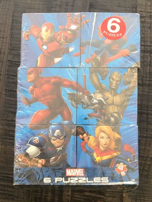 New Marvel 6 Puzzle Game Set just $5 for Sale in Port St. Lucie, FL