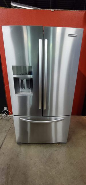 kitchen aid stainless steel fridge good working conditions for $499 for Sale in Golden, CO