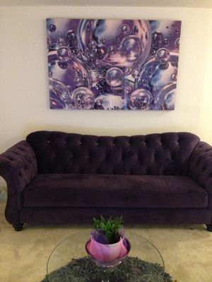 Purple diamond couch for Sale in Odenton, MD