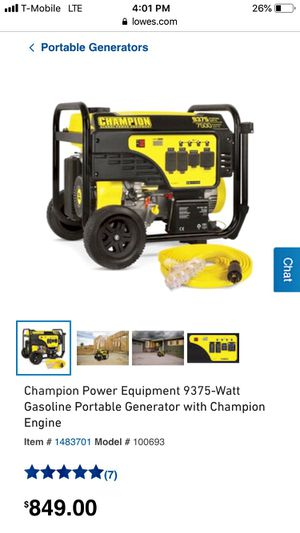 Portable generator for Sale in Wyomissing, PA