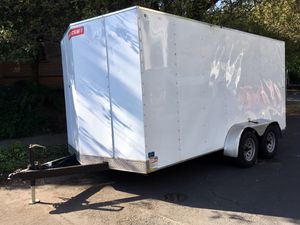 2016 7'x16' V Nose Cargo Trailer, Enclosed, Dual Axle for Sale in Portland, OR