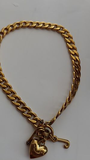 Women's Gold Juicy Couture Toggle Charm Necklace for Sale in Denver, CO