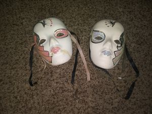 Decorative Face Mask 1 is cracked for Sale in Holland, OH