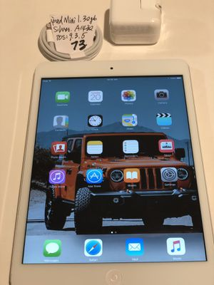 """Apple ipad mini 1,32 GB, WiFi 7.9"""",iOS:9.3.5. Silver/White,A1432,Clean iCloud,Fully Functional,Good Condition.iOS only 9.3.5. for Sale in San Lorenzo, CA"""