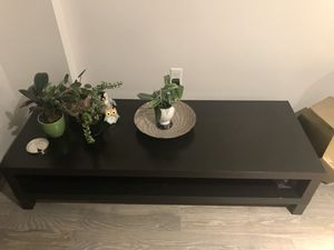 Dark wooden console for sale now for Sale in Somerville, MA
