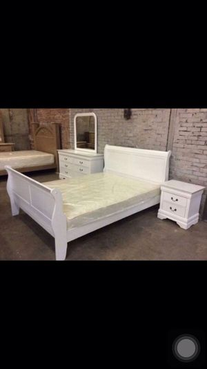 QUEEN 7PCS BEDROOM SET WITH MATTRESS & BOX ALL NEW for Sale in Austin, TX