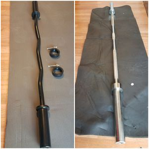 1x 6 foot straight bar Olympic 1x4 foot EZ curl bar Brand new for Sale in Montebello, CA