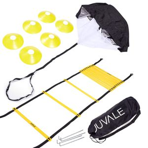 Juvale Speed and Agility Training Set - Includes Agility Ladder with Carrying Bag, 6 Disc Cones, Resistance Parachute, 4 Steel Stakes - for Speed, Co for Sale in Villa Park, CA